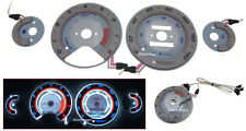 94-95 Honda Accord S7 AC Auto Autotechnic 3D Reverse Overlay Glow Gauge Faces