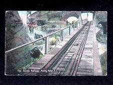 1916 Scenic Railway Rocky Point RI post card