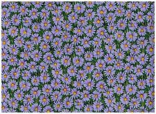 Coupon 100x110cm  Marguerites violettes sur fond vert Tissu coton patchwork 794L