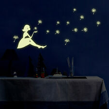 Glow in the Dark Removeable Wall Stickers Dandelion Girl Home Mural Art