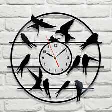 Swift on wire design vinyl record clock home decor art gift office playroom vet