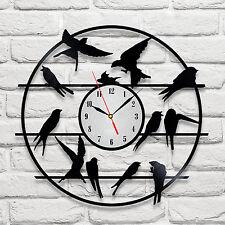 Swift on wire design vinyl record clock home decor art gift office playroom vet