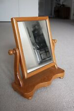 Antique C.1900's Edwardian mahogany timber pivoting dressing table mirror