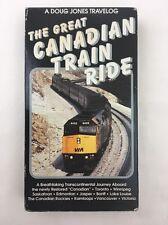 The Great Canadian Train Ride VHS Doug Jones Travelog Rail Luxury