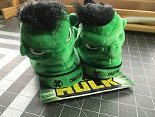 NEW WITH TAG KIDS INCREDIBLE HULK MARVEL  2003 PLUSH SLIPPERS SIZE 13-1