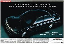 Publicité Advertising 1990 (2 pages) Honda Accord 2,2i