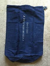 Vintage 40's WW II Denim Laundry Bag