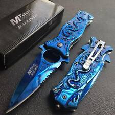 M TECH BLUE Titanium Blade Dragon Outdoor Camping Hunting Survival Pocket Knife