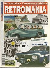 RETROMANIA 106 DKW MEISTERKLASSE & SONDERKLASSE RENAULT 12 La RAMSES (EGYPTE)