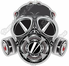 Gas Mask Sketch Biohazard Poison Toxic Car Bumper Vinyl Sticker Decal 4.6""