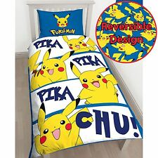 POKEMON PIKACHU SINGLE DUVET COVER SET CHILDRENS BEDROOM BEDDING