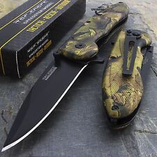 "8"" TAC FORCE JUNGLE CAMO STAINLESS SPRING ASSISTED TACTICAL POCKET KNIFE Blade"