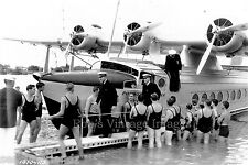 Pan Am Clipper Sikorsky S-42 Airplane Flying Boat 1935s in Honolulu  photo