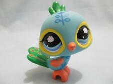 LITTLEST PET SHOP Blue Green Peacock Bird Nice #105 100% Authentic LPS