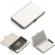 Business Name Credit ID Card Holder Box Metal Stainless Steel Pocket Box Case