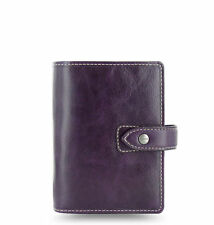Filofax Malden Purple Pocket Size Organiser Diary Buffalo Leather 425849