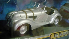 Ricko 32105, bmw 328 roadster (1936), plata metálica, 1/18, nuevo & OVP