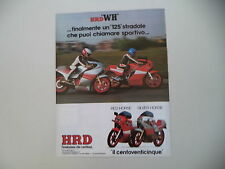 advertising Pubblicità 1983 MOTO HRD 125 RED HORSE/SILVER HORSE SH