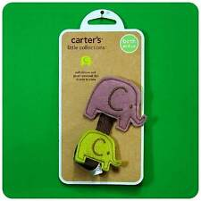 NEW/NWT~CARTERS~ELEPHANT~ANIMAL PACIFIER CLIP~BABY BOYS/girls~newborn+up/ reborn