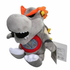 "Super Mario Bros Baby Dry Bowser 7.5"" Bones Koopa Plush Toy Stuffed Animal Doll"