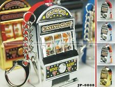 Mini Casino Slot Machine Toy Keychain Backpack Dangle Charm Decoration Keyring