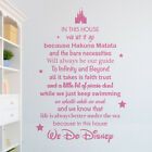 In this house, we do Disney Vinyl Wall Sticker Decal Stencil - Quirky Wall