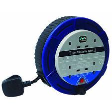 Masterplug 5m 4 sockets de 10 Amp Pequeña Cinta De Carrete Con Térmica de corte Cassette