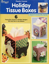 Holiday Tissue Boxes plastic canvas patterns OOP