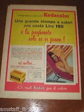 *=KODAK KODACOLOR COLORE=1961=PUBBLICITA'=ADVERTISING=WERBUNG=PUBLICITE=