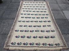 Vieux turc traditionnel européen hand made kilim rug 235x153cm crème laine coton
