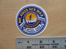 Sex Wax Snowboard Wax Blue Logo Sticker Decal