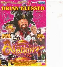BRIAN BLESSED/CARL JOHNS/ROGER KITTER AUTOGRAPHED THEATRE FLYER
