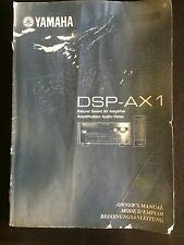 YAMAHA DSP-AX1 manuals guide , English, French, German