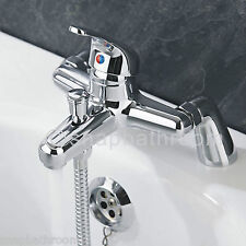New Modern Chrome Bath Filler Hand Held Shower Mixer Tap Bathroom Taps