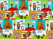 DISNEY WINNIE THE POOH CHARACTER PATCH   COTTON FABRIC  SPRINGS CREATIVE YARDAGE