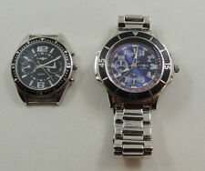 2 Captain Watches with Tachymeter Multi Functions -Need Batteries