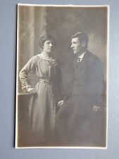 R&L Postcard: British Real Photo of Edwardian Man/Woman Fashion/Dress/Clothes