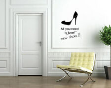 All You Need is New Shoes Heels Shop Fashion Decor Wall Mural Vinyl Sticker M565