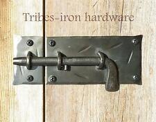 HAND FORGED SLIDE BOLT DOOR LATCH Cupboard Gate Shed Antique Wrought Iron Lock