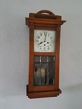 0065-Antique German Junghans  Westminster chime wall clock pipe gong