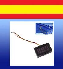 Mini test VOLTIMETRO medidor panel voltaje DIGITAL DC 0-100V coche moto 3 cables