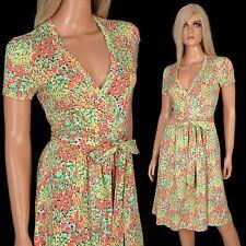 Vintage 70s DVF Diane von Furstenberg WRAP DRESS Jersey Knit Tulip Print MINT