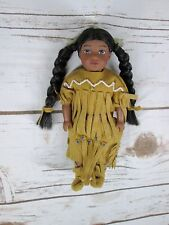 "American Girl Kaya Mini Doll 6"" Indian Suede Dress Shoes Beads Native American"