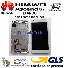 DISPLAY LCD+TOUCH con FRAME per HUAWEI G7 BIANCO - GLS 24h
