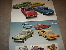 1972-1973 Chevrolet Vega Dealer Sales-Showroom Brochure Lot (2) GT, Kammback