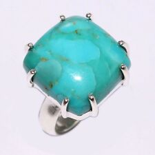 925 Sterling Silver Style Ring Size US 6 Natural Fine ARIZONA TURQUOISE Gemstone