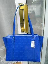 HARRODS DEBOSS Blue  SHOULDER BAG 34 x 27cm  * BRAND NEW