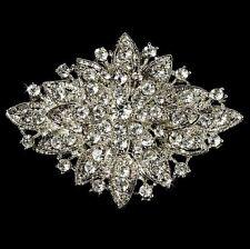 """Look Vintage 2.5"""" Diamantes de Imitación de Cristal para Boda Diamante Broche Pin"""