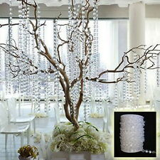 33FT Acrylic String Curtain Room Divider Crystal Beads Door Window Panel Wedding