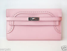 LIMITED! Authentic NEW Hermes Kelly Long Wallet Ghillies Rose Sakura PHW PINK